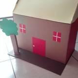 Σπίτι! Μένουμε σπίτι .. κατασκευή με κουτί παπουτσιών κι άλλα  χαρτιά .